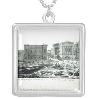 Building the New Gallery of the British Museum Silver Plated Necklace