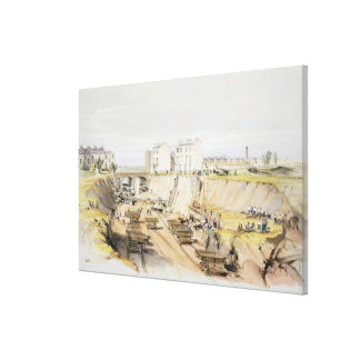 Building the Retaining Wall near Park Street, Camd Stretched Canvas Print