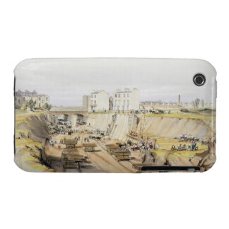 Building the Retaining Wall near Park Street, Camd iPhone 3 Case-Mate Cases
