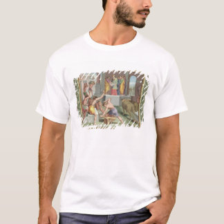 Building The Temple of Solomon, illustration from T-Shirt