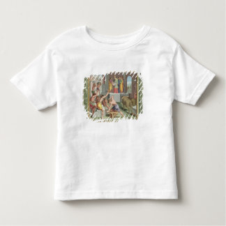 Building The Temple of Solomon, illustration from Toddler T-Shirt