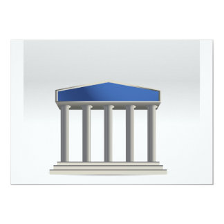 Building With Columns Invitations