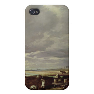 Building Work on a Railway Line, 1871 iPhone 4/4S Case