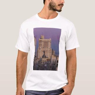 Buildings along Gran Via and Edificio Espana 2 T-Shirt