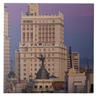 Buildings along Gran Via and Edificio Espana 2 Tile