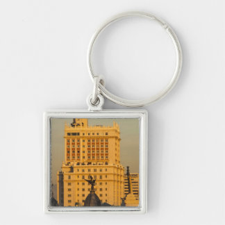 Buildings along Gran Via and Edificio Espana Keychain