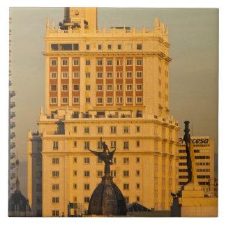 Buildings along Gran Via and Edificio Espana Tile
