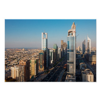 Buildings Along Sheikh Zayed Road, Dubai Poster