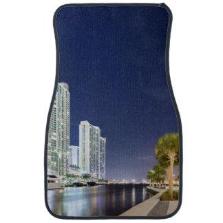 Buildings along the Miami River Riverwalk Car Mat