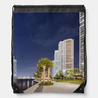 Buildings along the Miami River Riverwalk Drawstring Bag