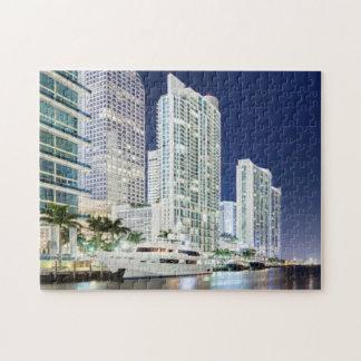 Buildings along the Miami River Riverwalk Puzzle