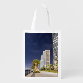 Buildings along the Miami River Riverwalk Reusable Grocery Bag