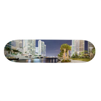 Buildings along the Miami River Riverwalk Skate Boards