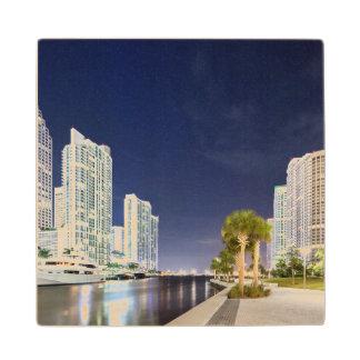 Buildings along the Miami River Riverwalk Wood Coaster