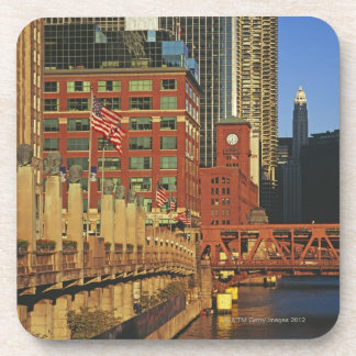 Buildings along the river in downtown Chicago, Coaster