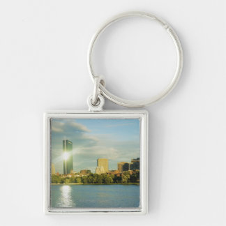 Buildings at sunset, John Hancock Tower, Boston, Key Ring