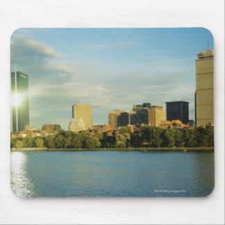 Buildings at sunset, John Hancock Tower, Boston, Mouse Mat