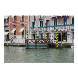 Buildings at the waterfront in Venice, Italy Poster