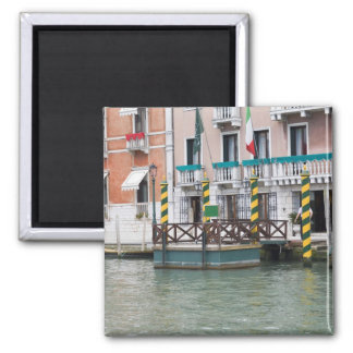 Buildings at the waterfront in Venice, Italy Square Magnet