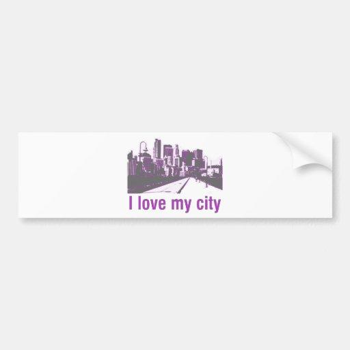 Buildings! I love my City design! Bumper Stickers