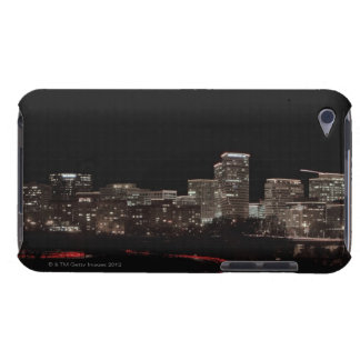 Buildings in a city lit up at night, Washington Barely There iPod Case