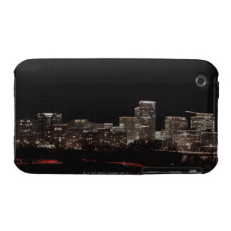 Buildings in a city lit up at night, Washington Case-Mate iPhone 3 Cases