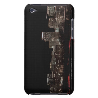 Buildings in a city lit up at night, Washington iPod Case-Mate Cases