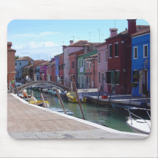 Buildings in Burano, Venice Mouse Mat