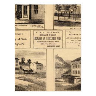 Buildings, Oil City, Franklin, Tarr Farm Postcard