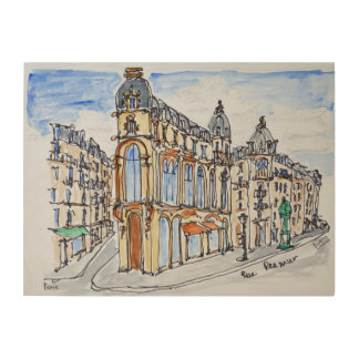 Buildings on Rue Reaumur, Paris, France Wood Print