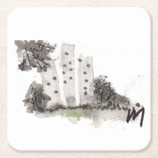 Buildings Square Paper Coaster