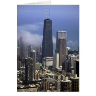 Buildings, view from top of Sears Tower, Chicago, Greeting Card