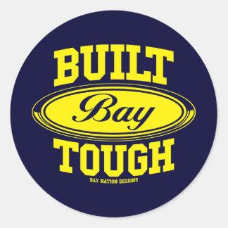 Built Bay Tough Round Sticker
