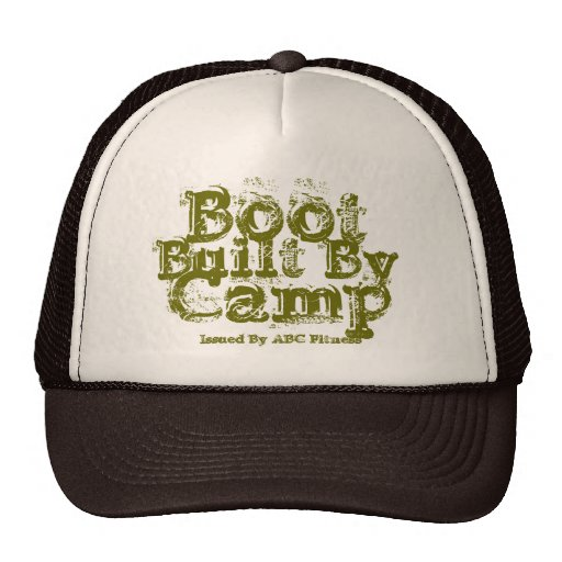 Built By, Boot Camp, Issued By ABC Fitness Trucker Hats