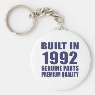 Built in 1992 basic round button key ring