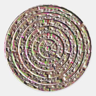 Built-in Chakra Healing Designs Round Sticker