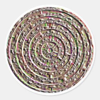 Built-in Chakra Healing Designs Round Stickers