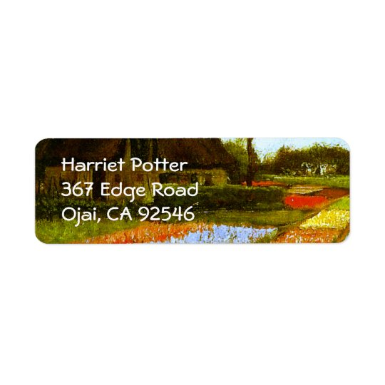 Bulb Fields Holland Van Gogh Fine Art Return Address Label