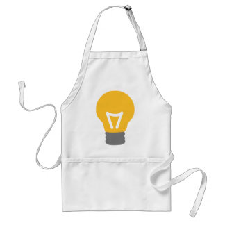 Bulb light adult apron