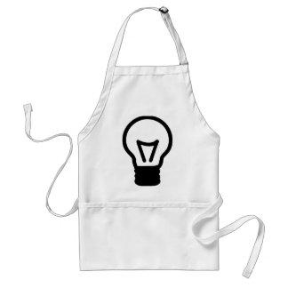 Bulb light icon aprons