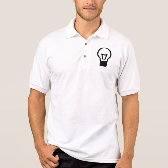 Bulb light icon polo shirt