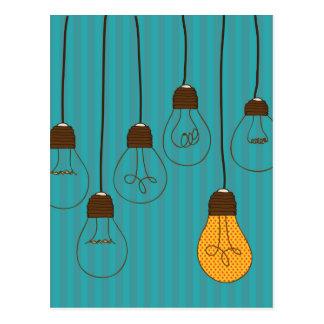 bulbs design postcard