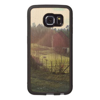 Bulding and sheep wood phone case