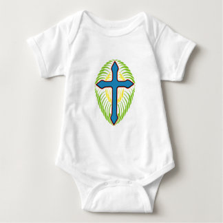 Bule Cross Baby Bodysuit