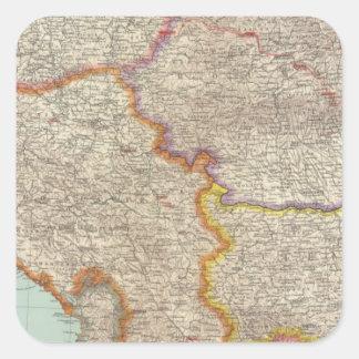 Bulgaria and Serbia Square Sticker