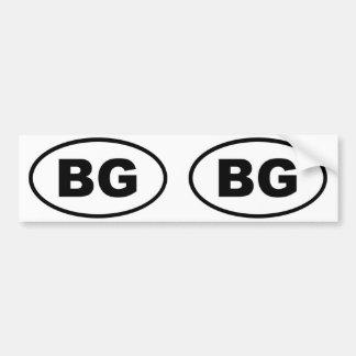 Bulgaria - BG - European oval Car Bumper Sticker