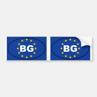 Bulgaria - BG - European Union oval Bumper Sticker