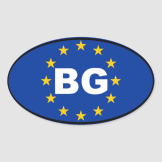 Bulgaria - BG - European Union Oval Sticker