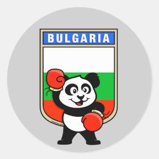 Bulgaria Boxing Panda Classic Round Sticker