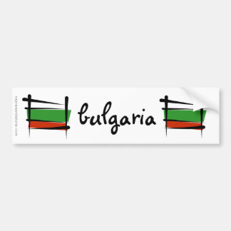 Bulgaria Brush Flag Bumper Sticker